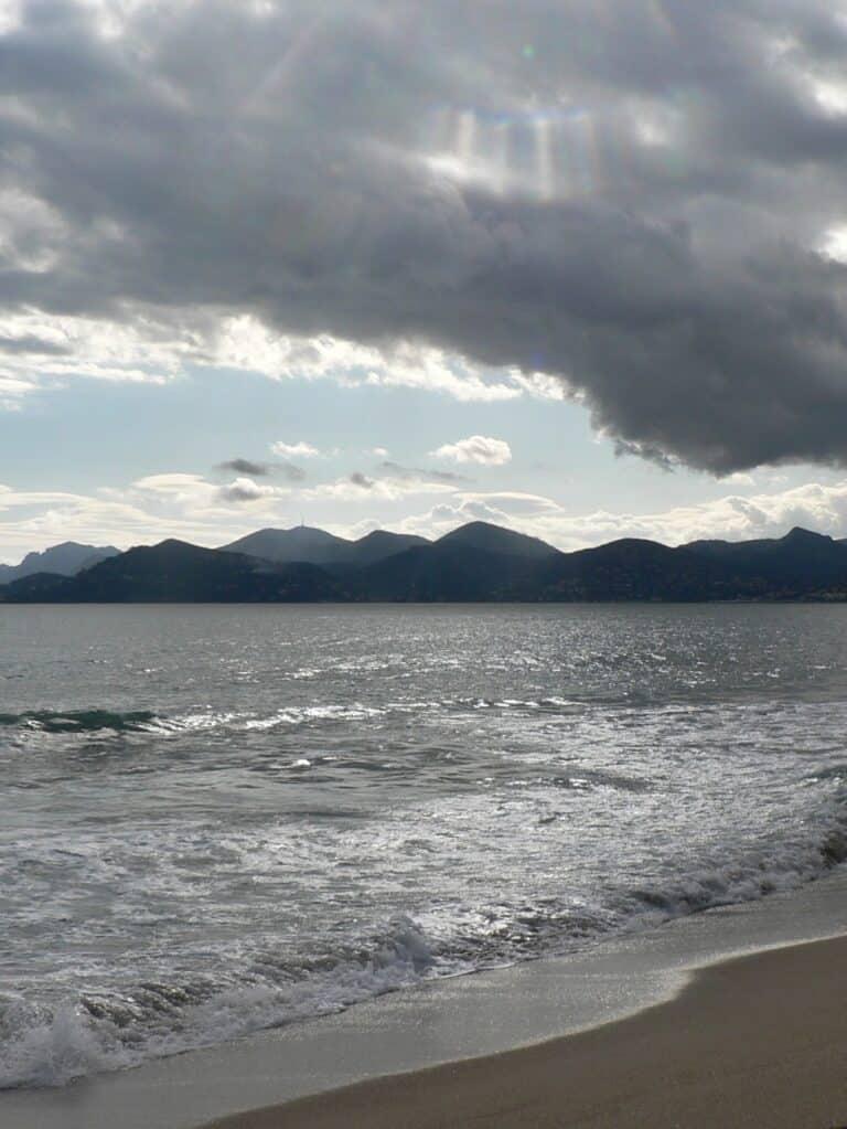 Ciel nuageux sur la mer